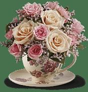 Victorian Teacup Bouquet Flowers