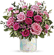 Teleflora's Gorgeous Glimmer Bouquet Flowers