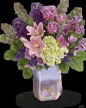 Purple Swirls Bouquet Flowers