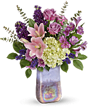 Teleflora's Purple Swirls Bouquet Flowers
