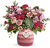 Teleflora's Cross My Heart Bouquet Flowers