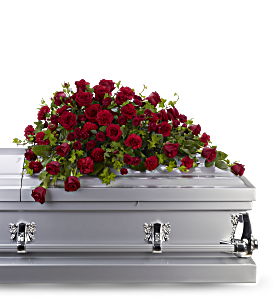 Red Rose Reverence Casket Spray, picture