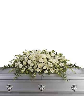 Purity and Peace Casket Spray Flowers