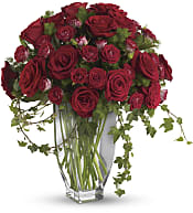 Rose Romanesque Bouquet - Red Roses Flowers