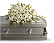 Silken Serenity Casket Spray Flowers