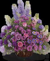 Gracious Lavender Basket Flowers