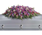 Lavender Tribute Casket Spray Flowers