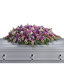Lavender Tribute Casket Spray, picture