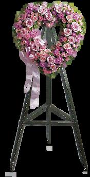Rose Garden Heart Flowers