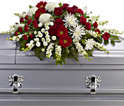 Strength and Wisdom Casket Spray Flowers