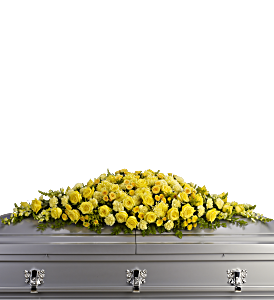 Golden Garden Casket Spray, picture