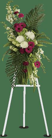 Gerberas and Palms Spray Flowers