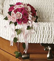 Rose Reflection Casket Insert Flowers