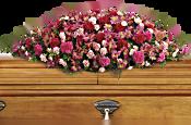 A Life Loved Casket Spray Flowers