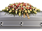 Warmest Remembrance Casket Spray Flowers