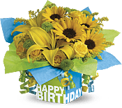 Sunny Birthday Present Flowers