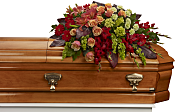 A Fond Farewell Casket Spray Flowers
