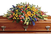 Colorful Reflections Casket Spray Flowers