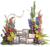 Loving Farewell Photo Tribute Bouquet Flowers