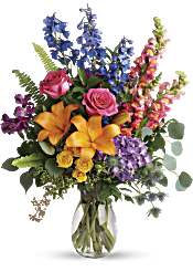 Colors Of The Rainbow Bouquet Flowers