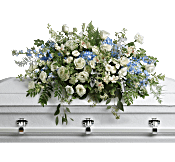 Tender Remembrance Casket Spray Flowers