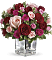 Love Medley Bouquet with Red Roses Flowers