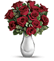 Teleflora's True Romance Bouquet with Red Roses Flowers