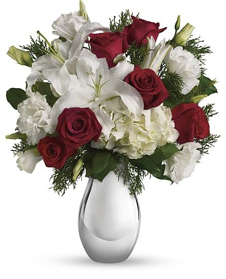 Silver noel bouquet flowers silver noel flower bouquet silver noel bouquet flowers mightylinksfo