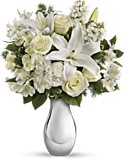 Teleflora's Shimmering White Bouquet Flowers