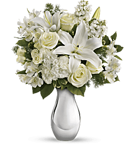 Teleflora's Shimmering White Bouquet, picture