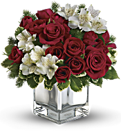 Teleflora's Christmas Blush Bouquet Flowers