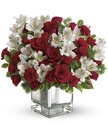 Christmas Blush Bouquet Flowers