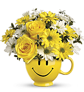 Teleflora's Be Happy Bouquet with Roses, picture