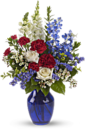 Sea to Shining Sea Bouquet Flowers