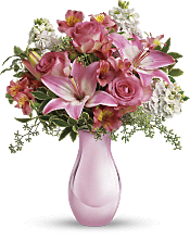 Pink Reflections Bouquet with Roses Flowers