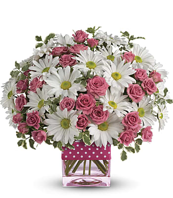 Teleflora's Polka Dots and Posies Flowers