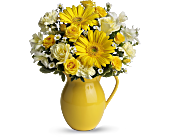 Teleflora's Sunny Day Pitcher of Cheer, picture