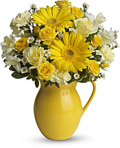 Sunny Day Pitcher of Cheer Flowers