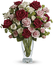 Cupid's Creation with Red Roses  Flowers