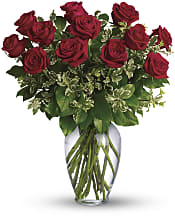 Always on My Mind - Long Stemmed Red Roses Flowers