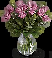 Lavender Wishes - Dozen Premium Lavender Roses Flowers