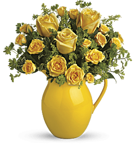Teleflora's Sunny Day Pitcher of Roses, picture