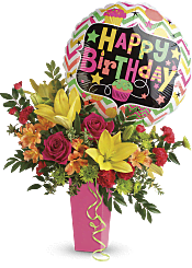 Say Happy Birthday With Flowers In A Birthday Bouquet Teleflora