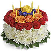 Your Wish Is Granted Birthday Cake Bouquet Flowers