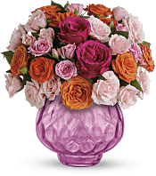 Sweet Fire Bouquet with Roses Flowers