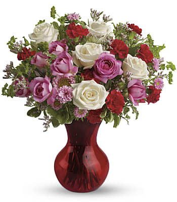 Teleflora's Splendid in Red Bouquet with Roses Flowers