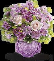 Lavender Chiffon Bouquet Flowers