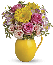 Sunny Day Pitcher Of Charm Flowers