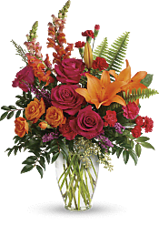 Punch Of Color Bouquet Flowers