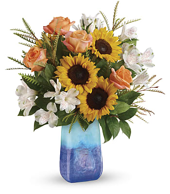 Teleflora's Sunflower Beauty Bouquet Flowers